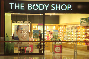 <strong>The Body Shop</strong><span><b></b></span><i>→</i>